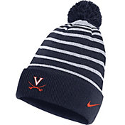 Nike Men's Virginia Cavaliers Blue Football Sideline Cuffed Pom Beanie