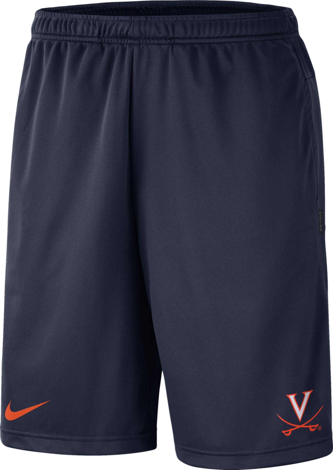 Nike Men's Virginia Cavaliers Blue Dri-FIT Coach Shorts