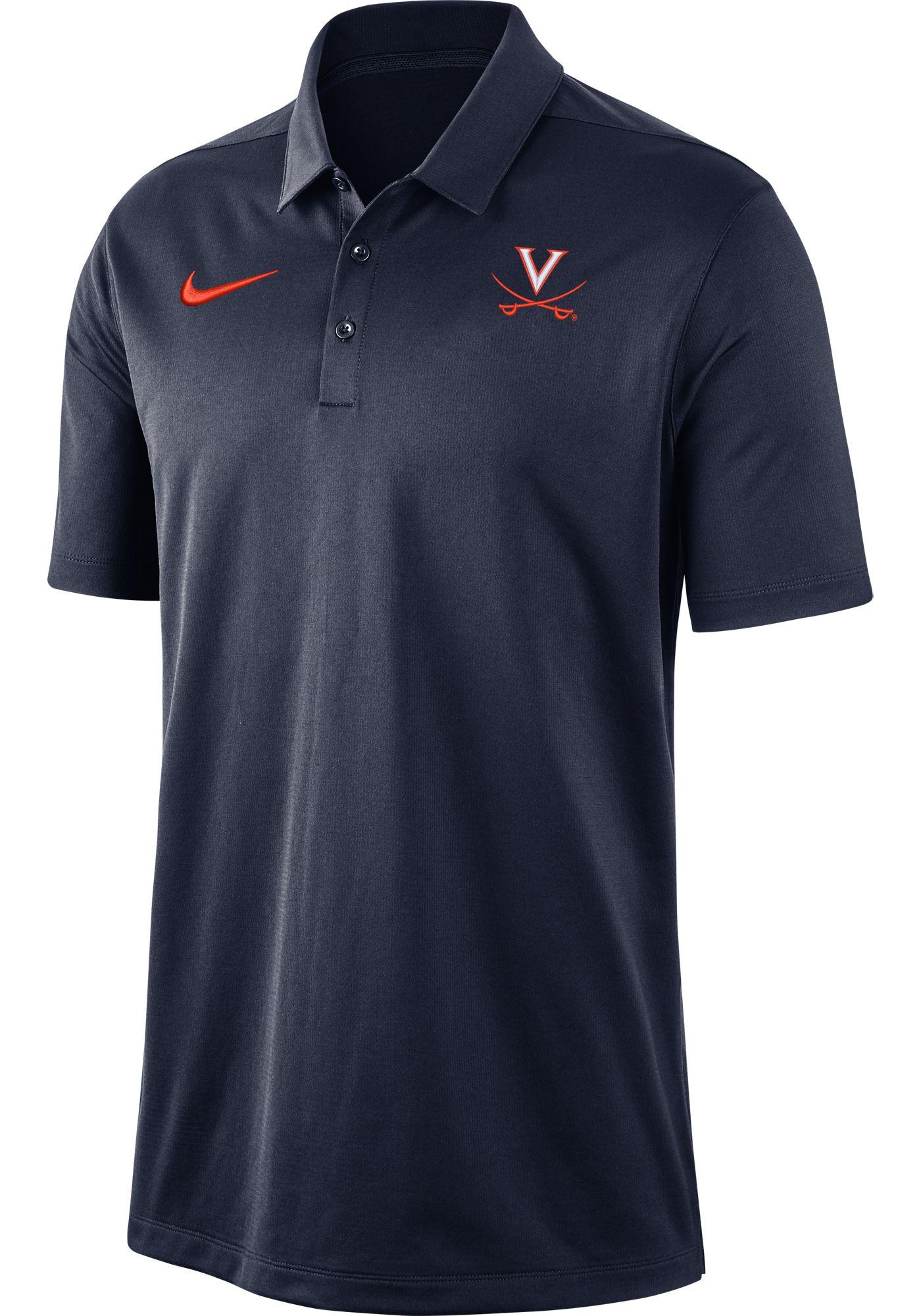 Nike Men's Virginia Cavaliers Blue Dri-FIT Franchise Polo
