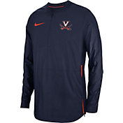 Nike Men's Virginia Cavaliers Blue Lockdown Football Quarter-Zip Jacket