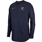 Nike Men's Virginia Cavaliers Blue Lockdown Football Quarter-Zip Jacket