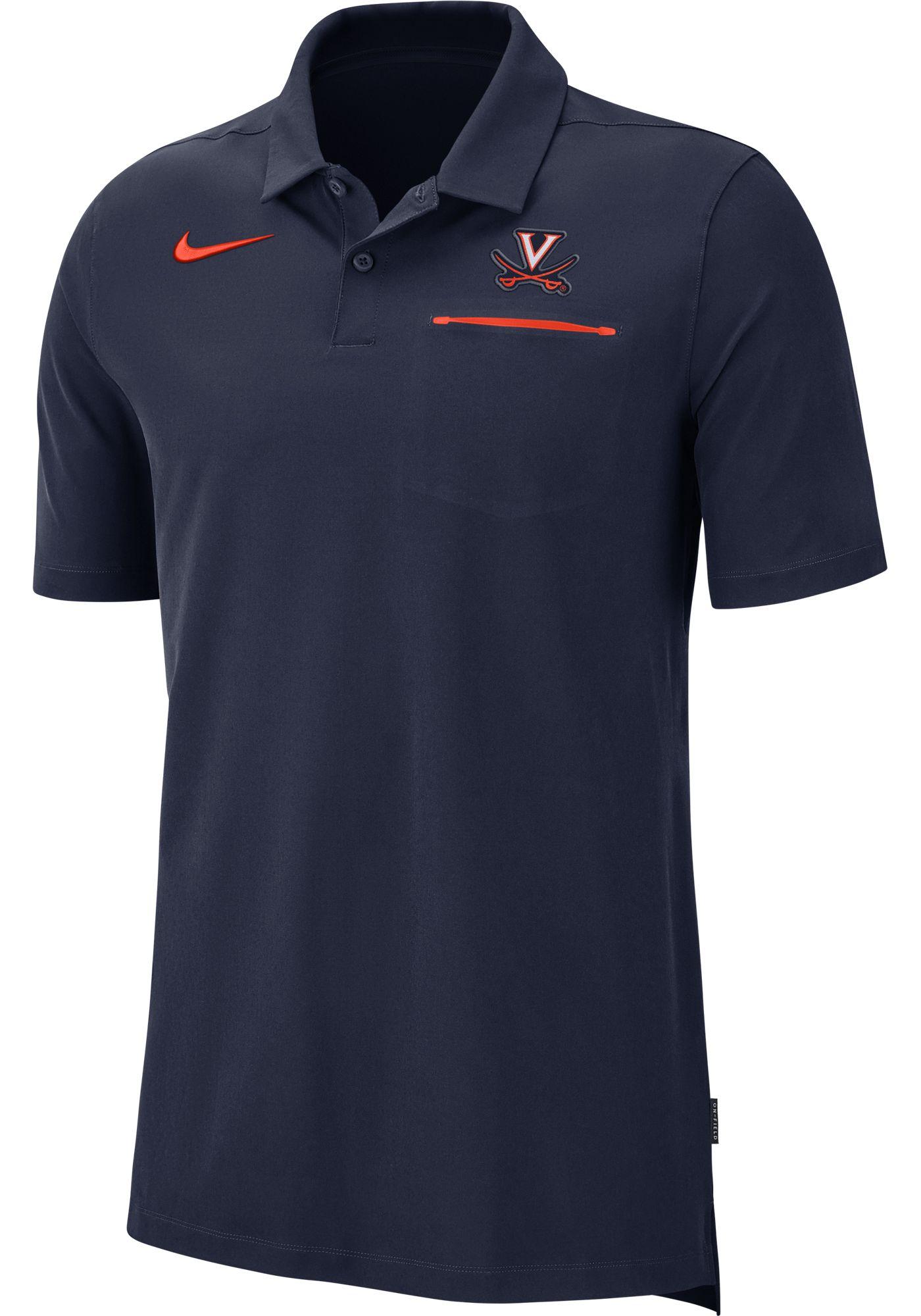 Nike Men's Virginia Cavaliers Blue Dri-FIT Elite Football Sideline Polo