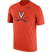 Nike Men's Virginia Cavaliers Orange Logo Dry Legend T-Shirt