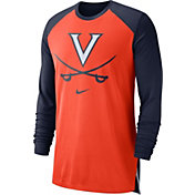 Nike Men's Virginia Cavaliers Orange/Blue Breathe Long Sleeve Shirt