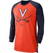 Nike Men's Virginia Cavaliers Orange/Blue Breathe Long Sleeve Shirt