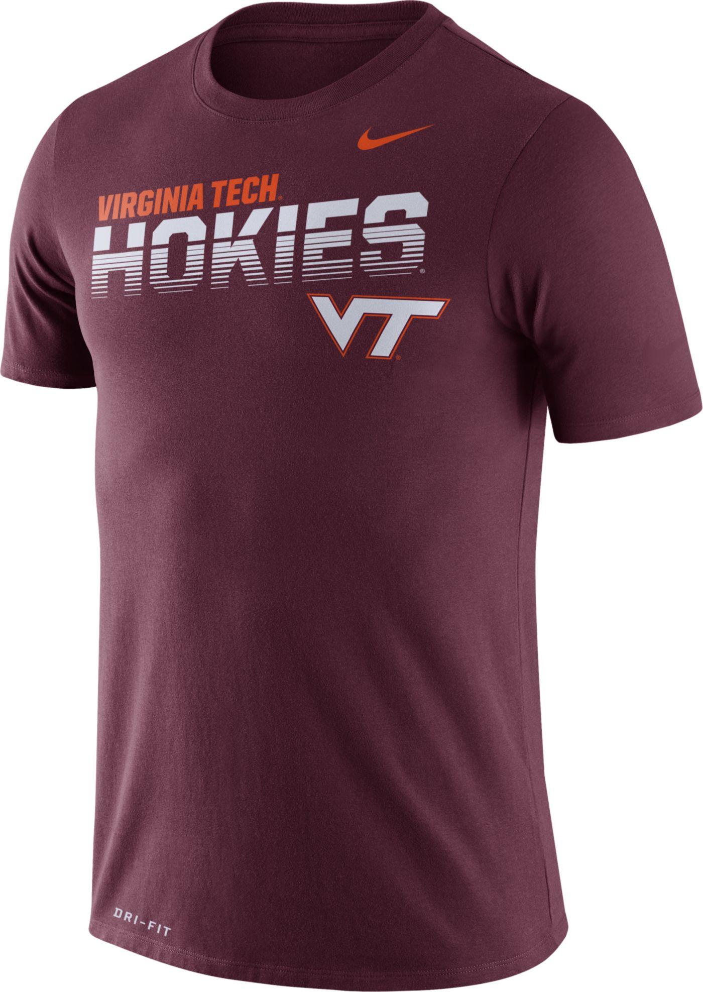 Nike Men's Virginia Tech Hokies Maroon Legend Football Sideline T-Shirt