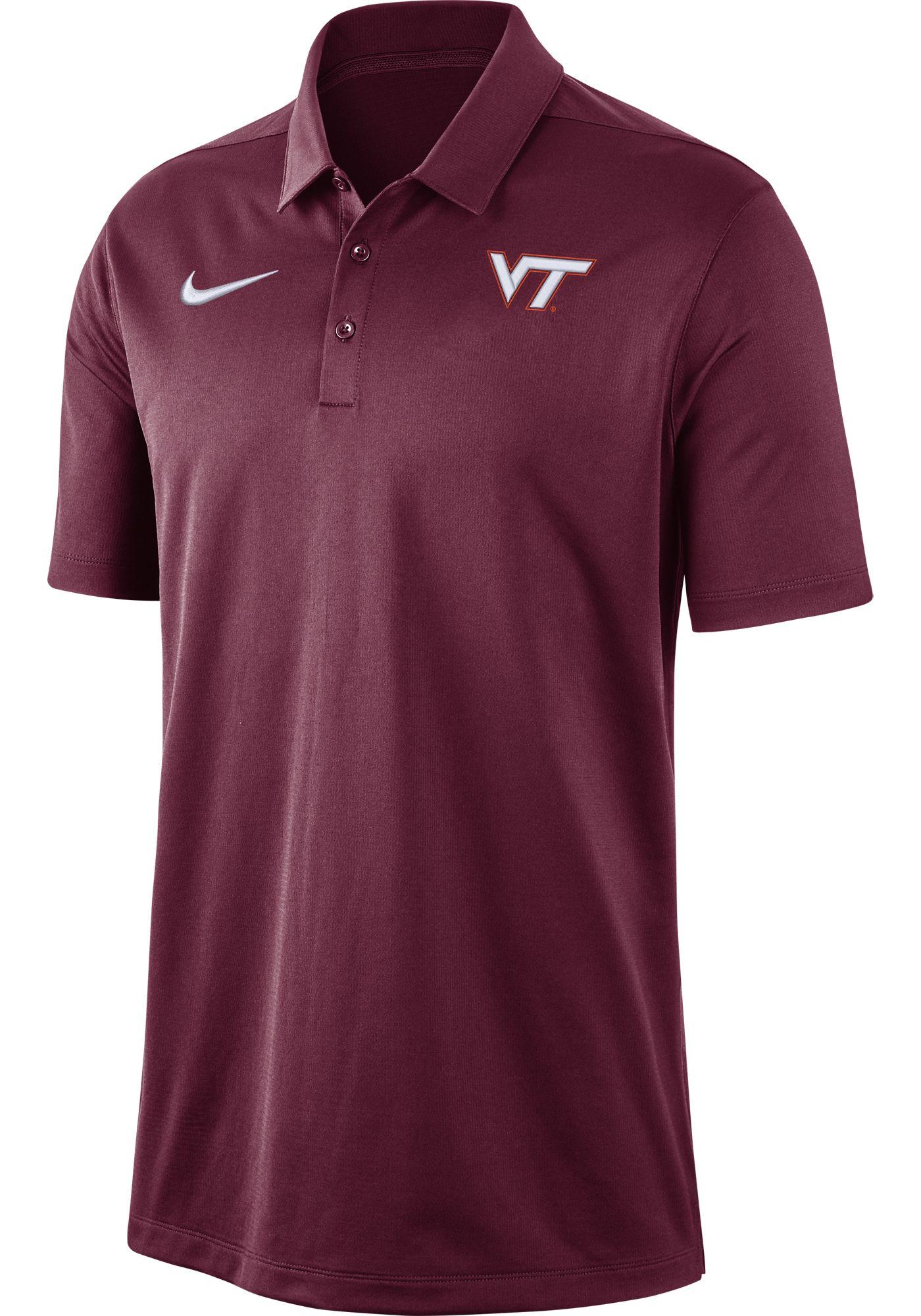 Nike Men's Virginia Tech Hokies Maroon Dri-FIT Franchise Polo
