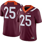 Nike Men's Virginia Tech Hokies #25 Maroon Dri-FIT Game Football Jersey