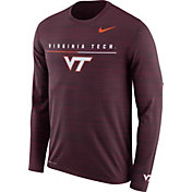 Nike Men's Virginia Tech Hokies Maroon Velocity Legend Graphic Long Sleeve T-Shirt