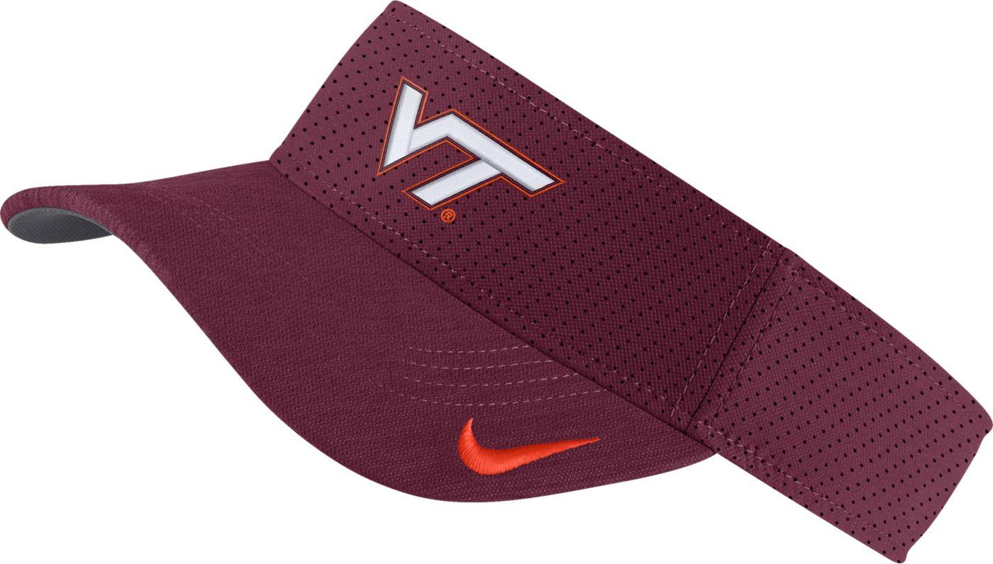 Nike Men's Virginia Tech Hokies Maroon AeroBill Football Sideline Visor