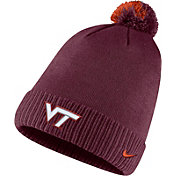 Nike Men's Virginia Tech Hokies Maroon Football Sideline Pom Beanie