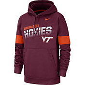 Nike Men's Virginia Tech Hokies Maroon Therma Football Sideline Pullover Hoodie