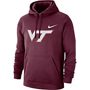 Nike Men's Virginia Tech Hokies Maroon Club Fleece Pullover Hoodie