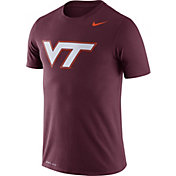 Nike Men's Virginia Tech Hokies Maroon Logo Dry Legend T-Shirt