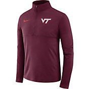Nike Men's Virginia Tech Hokies Maroon Long Sleeve Core Half-Zip Shirt