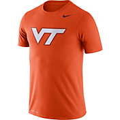 Nike Men's Virginia Tech Hokies Burnt Orange Logo Dry Legend T-Shirt