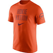 Nike Men's Virginia Tech Hokies Burnt Orange Dri-Fit Verbiage Performance T-Shirt