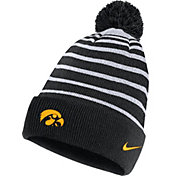 Nike Men's Iowa Hawkeyes Football Sideline Cuffed Pom Black Beanie