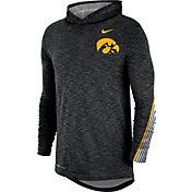 Nike Men's Iowa Hawkeyes Cotton Long Sleeve Hoodie Black T-Shirt