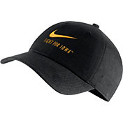 Nike Men's Iowa Hawkeyes Heritage86 Adjustable Black Hat