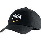 Nike Men's Iowa Hawkeyes Heritage86 Arch Wordmark Black Hat