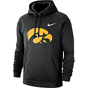 Nike Men's Iowa Hawkeyes Club Fleece Pullover Black Hoodie