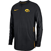 Nike Men's Iowa Hawkeyes Lockdown Football Quarter-Zip Black Jacket