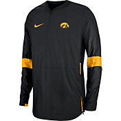 Nike Men's Iowa Hawkeyes Lockdown Half-Zip Football Black Jacket