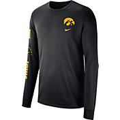 Nike Men's Iowa Hawkeyes Dri-FIT Elevated Basketball Black Long Sleeve Shirt