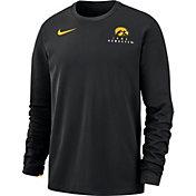 Nike Men's Iowa Hawkeyes Dri-FIT Modern Long Sleeve Crew Neck Black T-Shirt