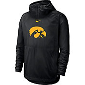 Nike Men's Iowa Hawkeyes Repel Football Sideline Player Pullover Black Hoodie