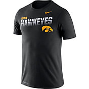 Nike Men's Iowa Hawkeyes Legend Football Sideline Black T-Shirt
