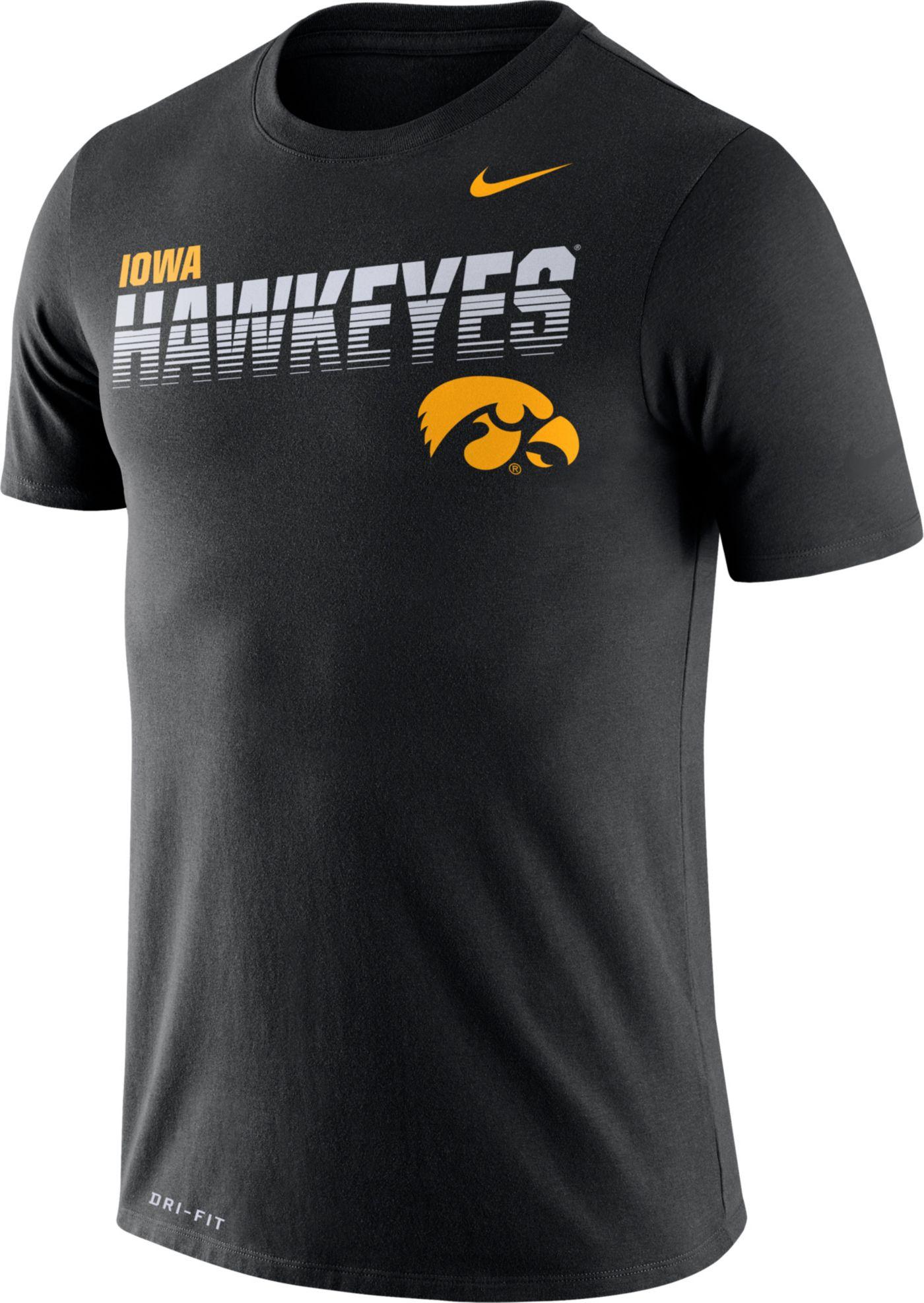 Nike Men's Iowa Hawkeyes Legend Football Sideline Black T-Shirt