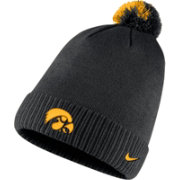 Nike Men's Iowa Hawkeyes Football Sideline Pom Black Beanie