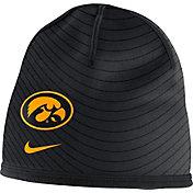 Nike Men's Iowa Hawkeyes Sideline Training Performance Black Knit Beanie