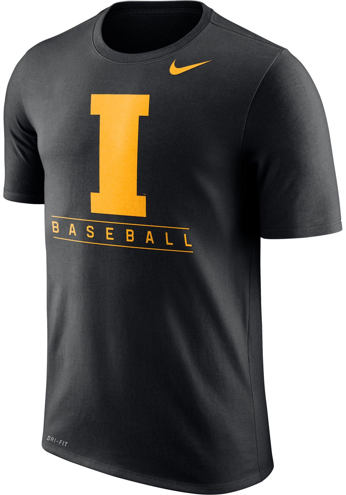 Nike Men's Iowa Hawkeyes Dri-FIT Legend Baseball Black T-Shirt