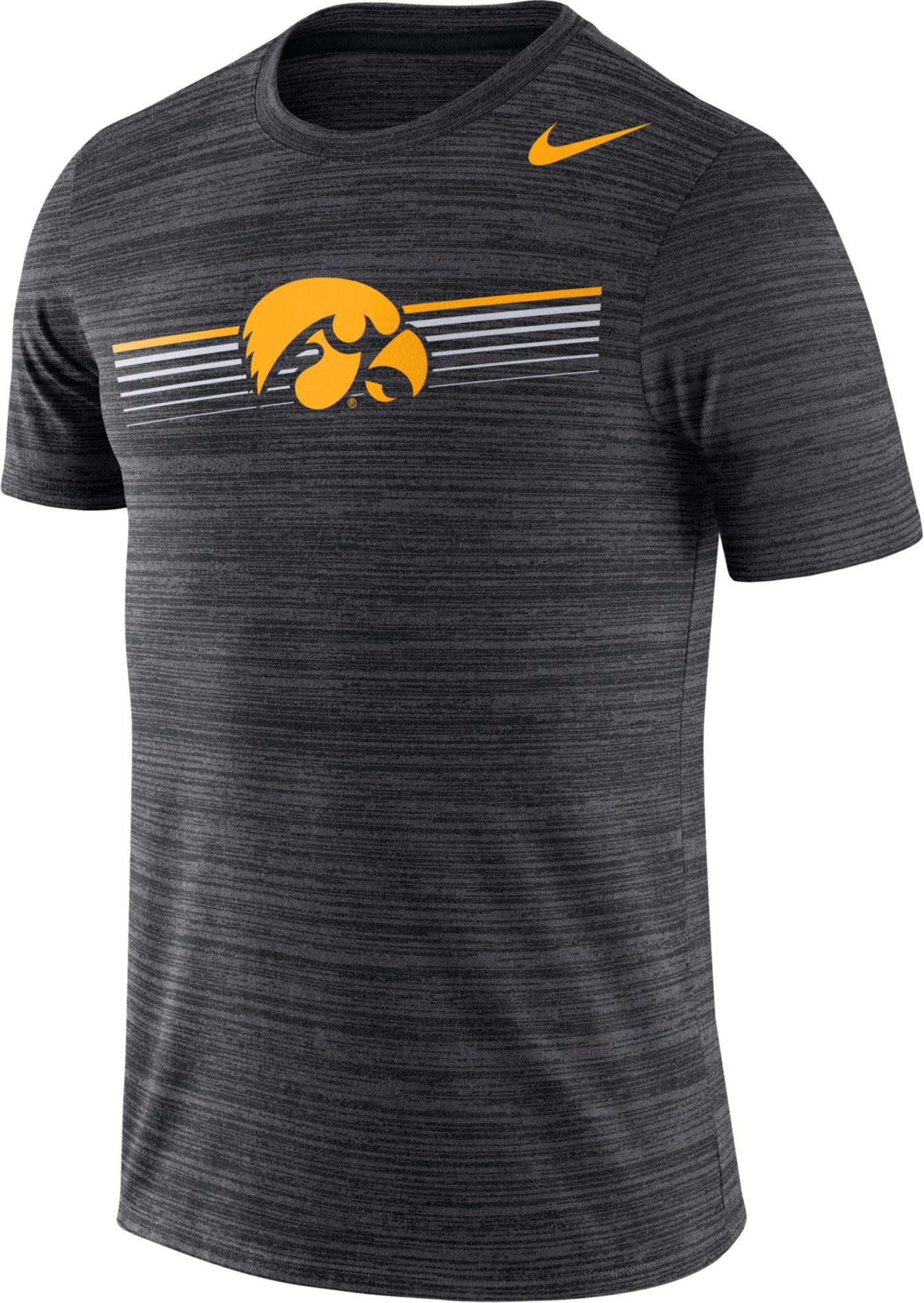 Nike Men's Iowa Hawkeyes Velocity Legend Graphic Black T-Shirt