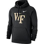 Nike Men's Wake Forest Demon Deacons Club Fleece Pullover Black Hoodie