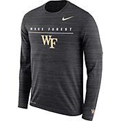 Nike Men's Wake Forest Demon Deacons Velocity Legend Graphic Long Sleeve Black T-Shirt