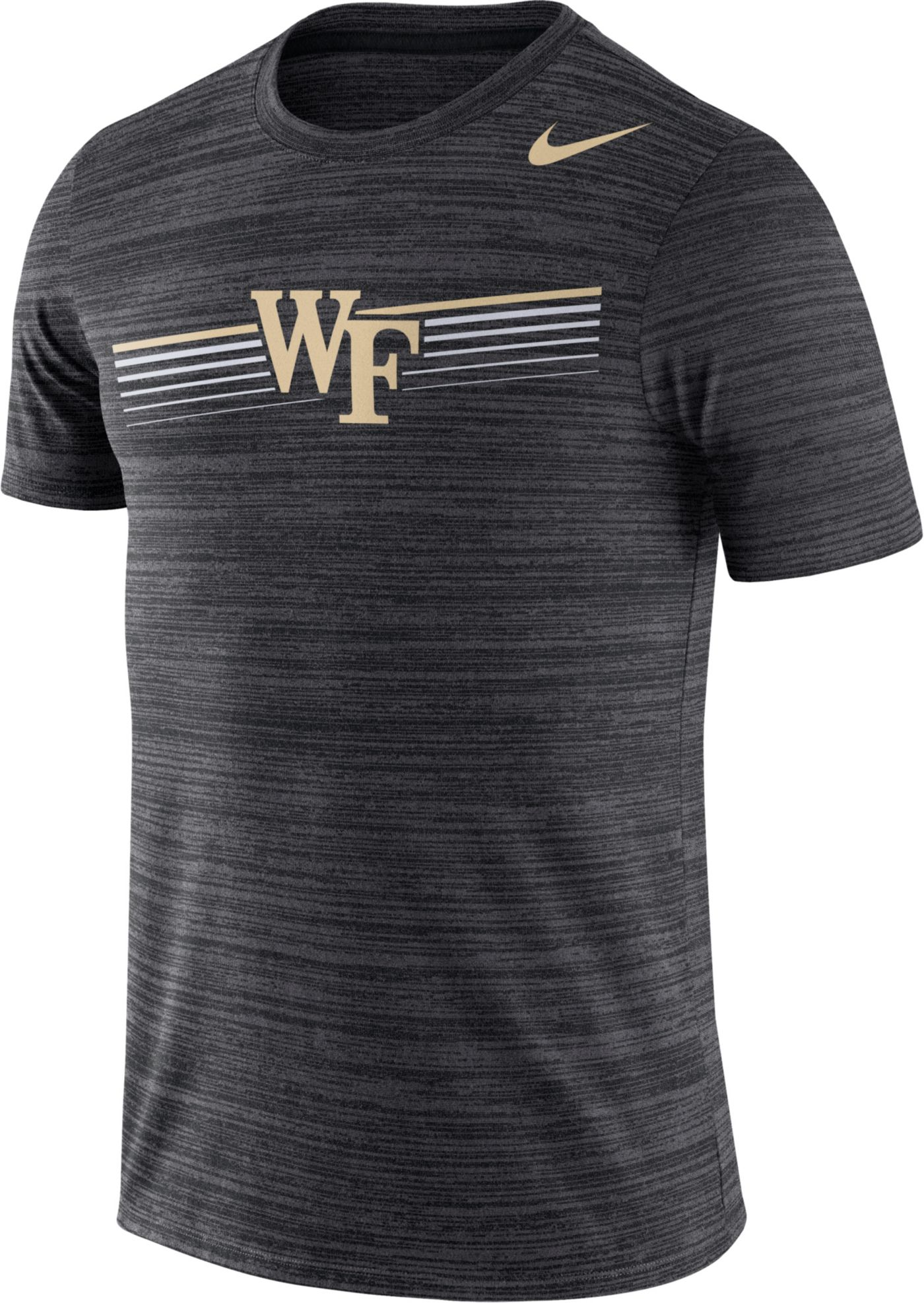 Nike Men's Wake Forest Demon Deacons Velocity Legend Graphic Black T-Shirt