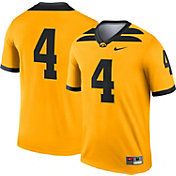 Nike Men's Iowa Hawkeyes #4 Gold Dri-FIT Legend Football Jersey