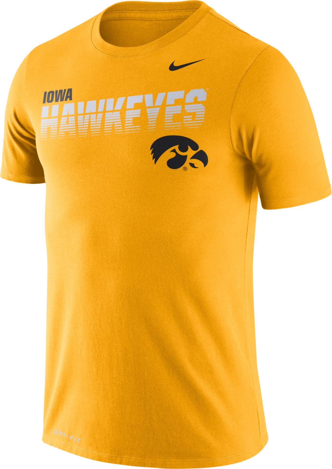 Nike Men's Iowa Hawkeyes Gold Legend Football Sideline T-Shirt