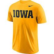 Nike Men's Iowa Hawkeyes Gold Wordmark T-Shirt