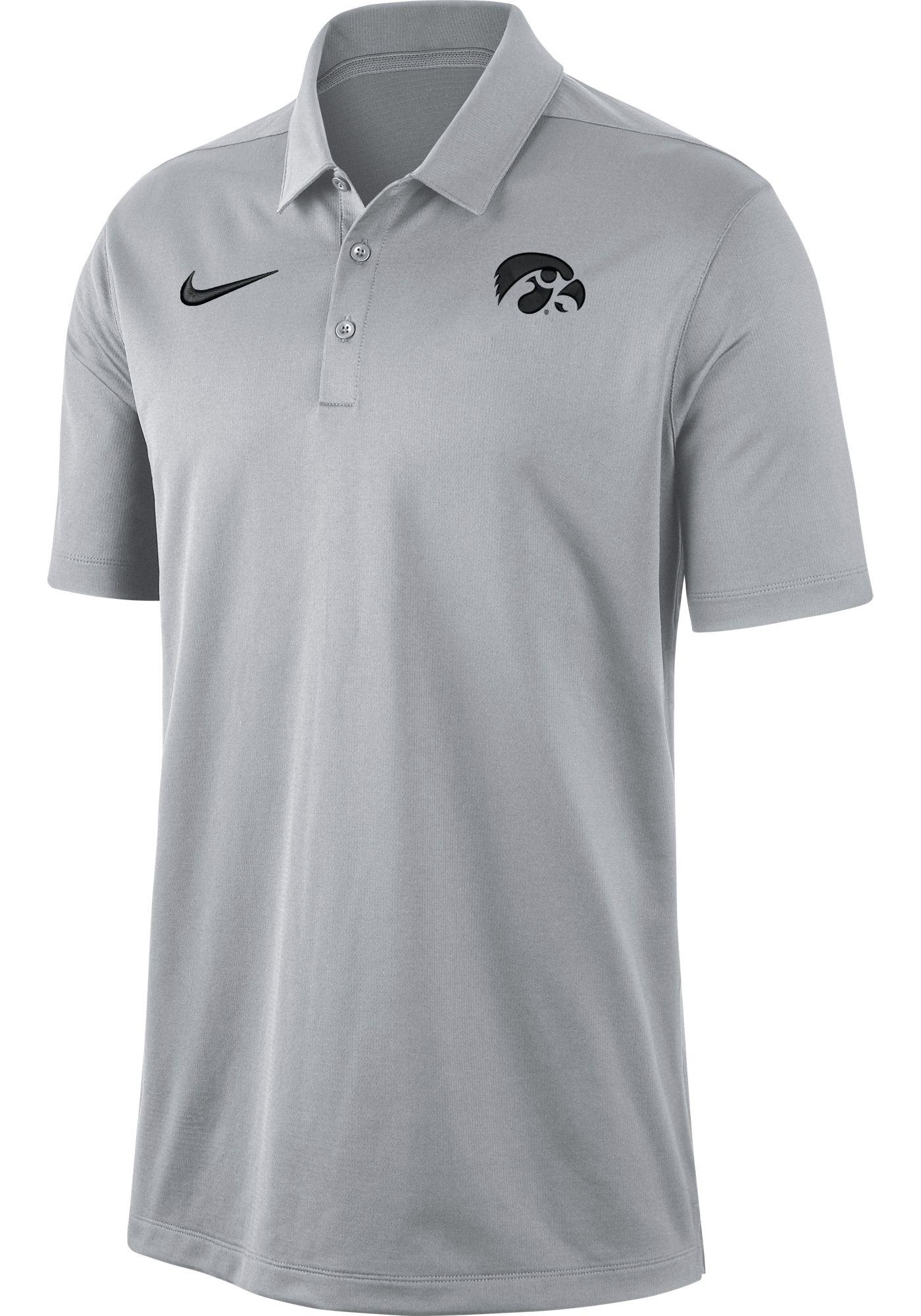 Nike Men's Iowa Hawkeyes Grey Dri-FIT Franchise Polo