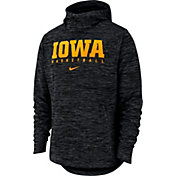 Nike Men's Iowa Hawkeyes Black Heathered Dri-FIT Spotlight Pullover Hoodie