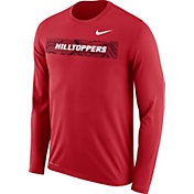 Nike Men's Western Kentucky Hilltoppers Red Dri-FIT Football Sideline Legend Long Sleeve Shirt