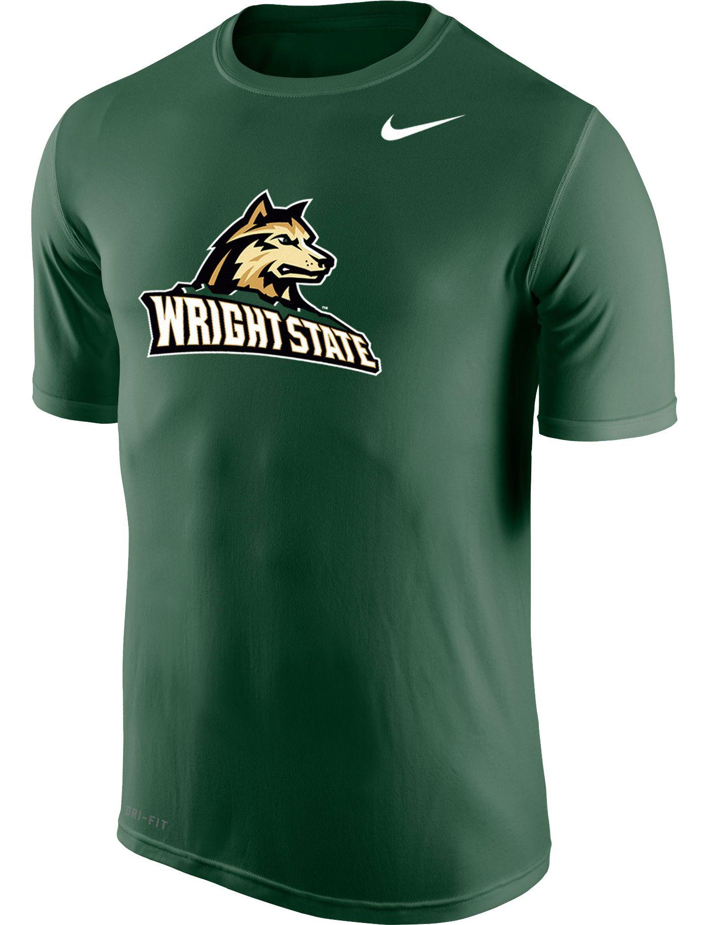 Nike Men's Wright State Raiders Green Logo Legend T-Shirt