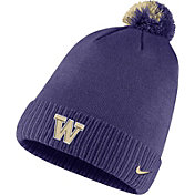 Nike Men's Washington Huskies Purple Football Sideline Pom Beanie
