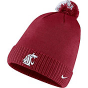 Nike Men's Washington State Cougars Crimson Football Sideline Pom Beanie