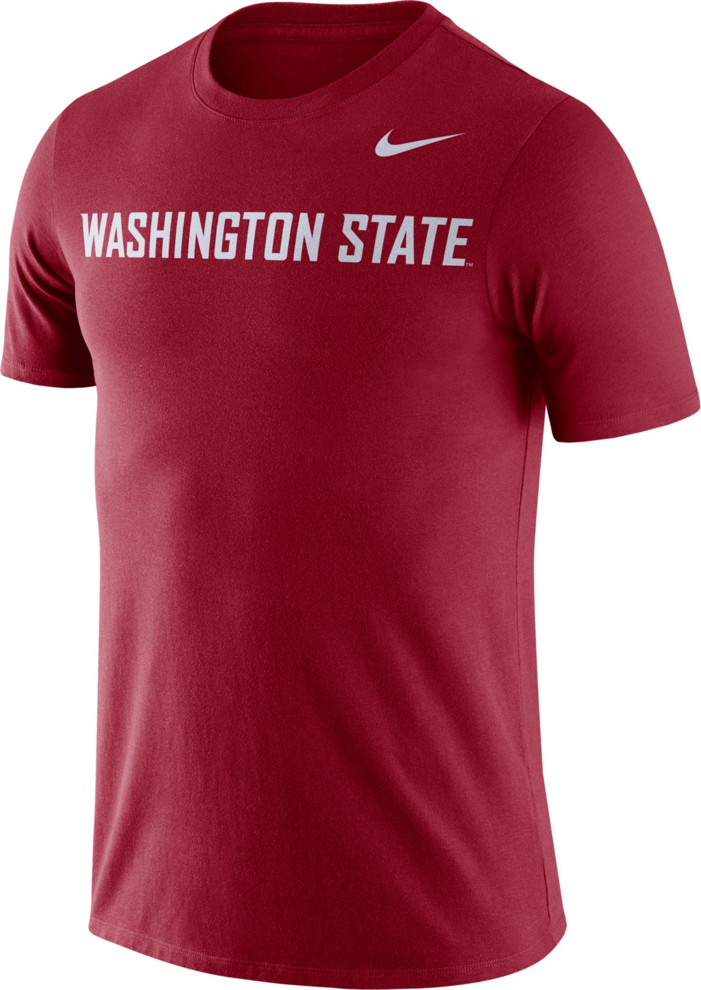 Nike Men's Washington State Cougars Crimson Dri-FIT Cotton Word T-Shirt